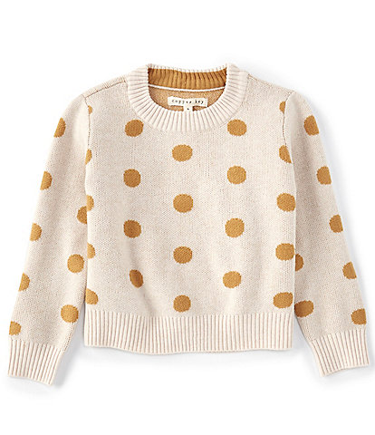 Copper Key Little Girls 2-6X Ivory with Rust Dot Sweater