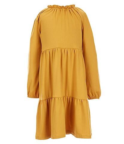 Copper Key Little Girls 2-6X Long Sleeve Ruffle Trim Dress