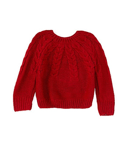 Copper Key Little Girls 2T-6X Cable-Knit Sweater