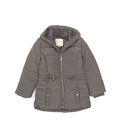 Copper Key Little Girls 2T-6X Faux Fur Lined Quilted Puffer Jacket