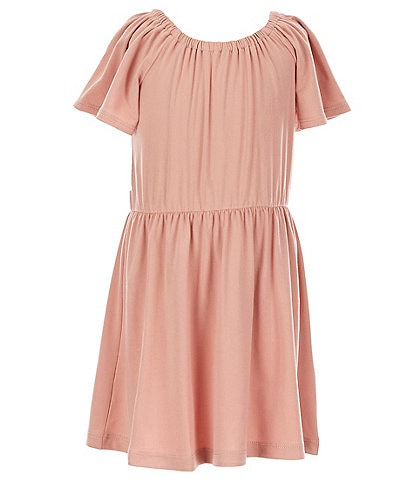 Copper Key Little Girls 2T-6X Flutter-Sleeve Yummy Fit-And-Flare Dress