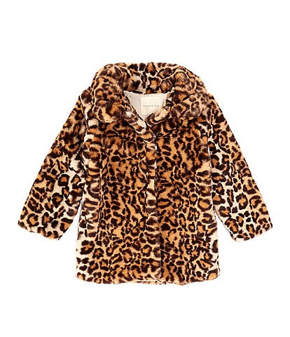 Copper Key Little Girls 2T-6X Leopard Faux-Fur Coat