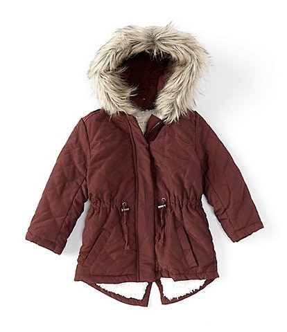 Copper Key Little Girls 2T-6X Quilted Hooded Anorak