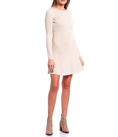 Copper Key Long Sleeve Sweater Dress