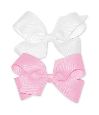 Copper Key Girls Medium Grosgrain Bows 2-Pack