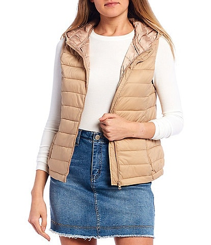 Copper Key Puffer Hooded Vest