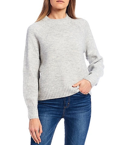 Copper Key Ribbed Knit Long Sleeve Sweater