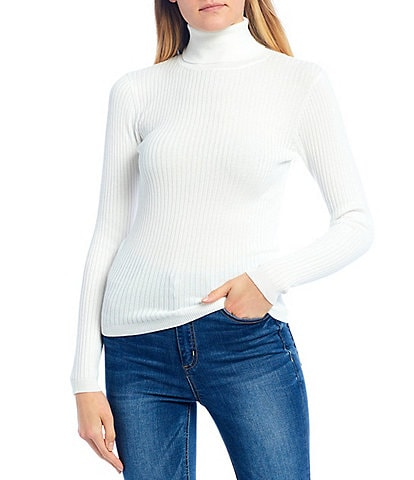 Copper Key Ribbed Long Sleeve Turtleneck Sweater