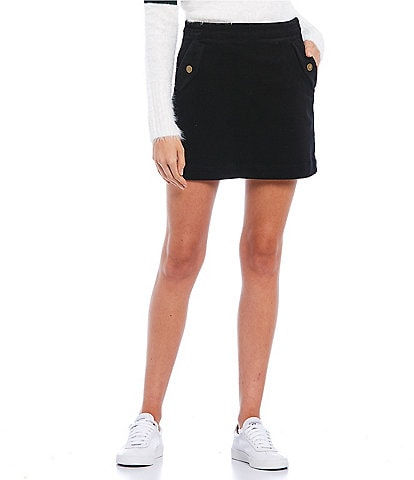 Copper Key Side Button Mini Skirt