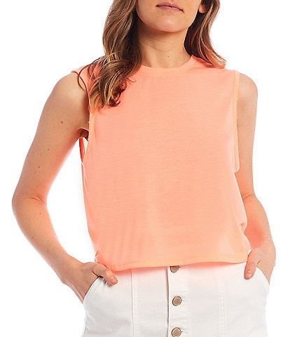 Copper Key Sleeveless Knit Muscle Tee