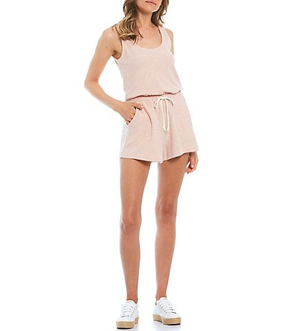 Copper Key Sleeveless Knit Romper