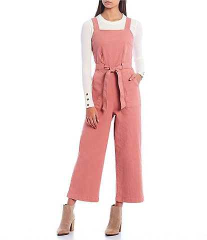 Copper Key Sleeveless Tie Waist Jumpsuit