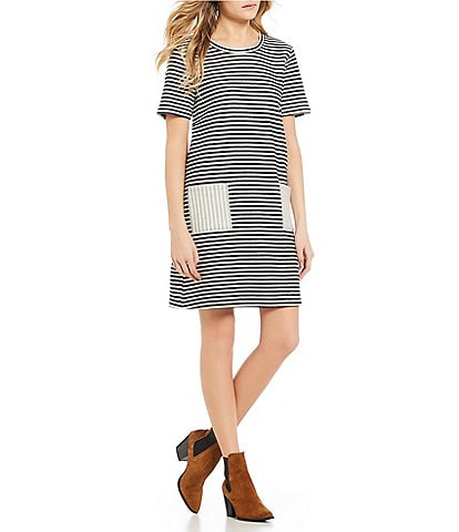 Copper Key Striped Knit Dress