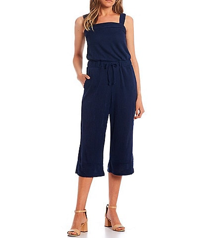Copper Key Tie Front Knit Jumpsuit