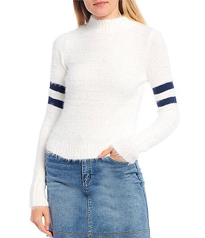 Copper Key Varsity Stripe Long Sleeve Sweater