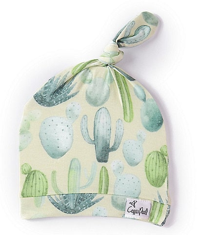 Copper Pearl Baby Desert Cactus Print Top Knot Hat
