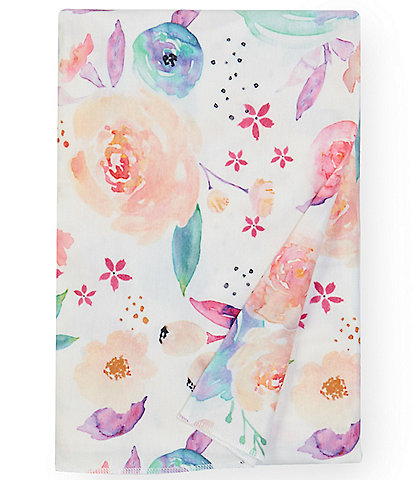Copper Pearl Baby Girls Bloom Floral Knit Swaddle Blanket