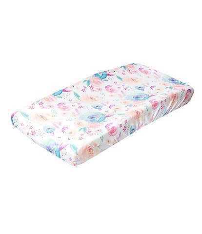 Copper Pearl Baby Girls Bloom Floral Print Premium Diaper Changing Pad Cover