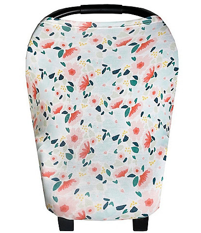Copper Pearl Baby Girls Leilani Floral Print 5-In-1 Multi-Use Cover