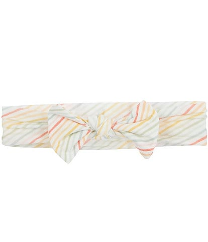 Copper Pearl Baby Girls Rainee Striped Bow Headband