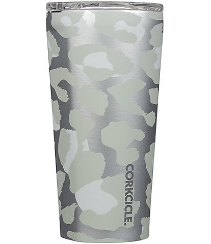 Corkcicle Stainless Steel Triple-Insulated 16-oz Snow Leopard Tumbler