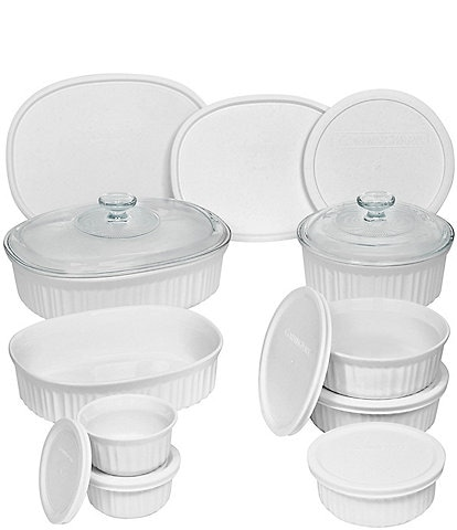 CorningWare French White 18-Piece Bakeware Set