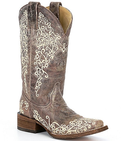 Corral Boots Crater Embroidered Leather Western Boots