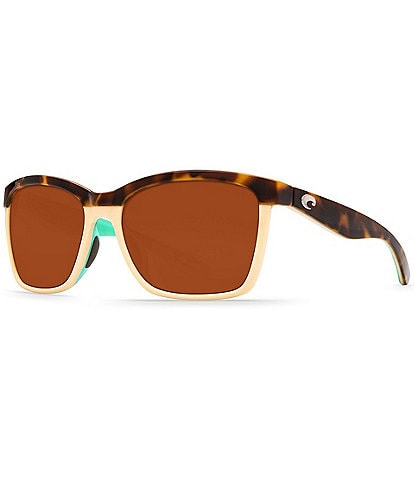 Costa Anaa Retro Polarized Square Sunglasses