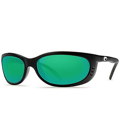 Costa Fathom Green Polarized Wrap Sunglasses