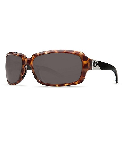 Costa Isabela UVA/UVB Protection Polarized Rectangle Sunglasses