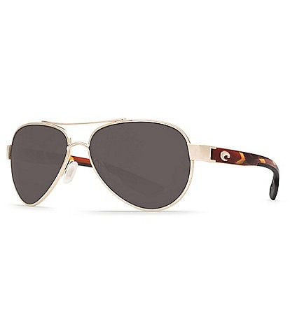 Costa Loreto Double Bridge UVA/UVB Protection Aviator Sunglasses