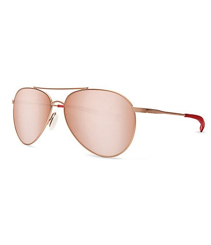Costa Piper Rose Gold Mirror Lens Polarized Aviator Sunglasses