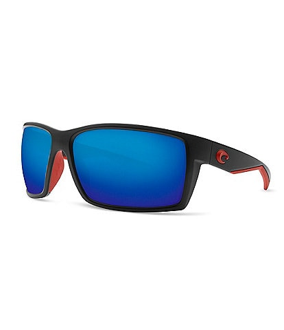 4e9008e89 Costa Reefton Blackout Polarized Mirrored Glass Rectangle Sunglasses