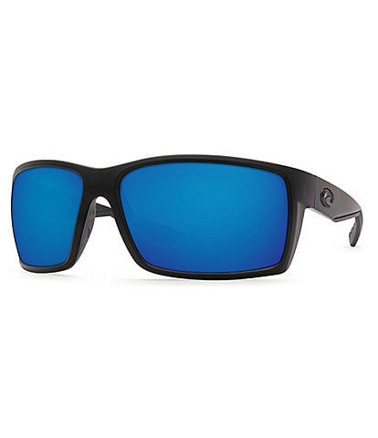 Costa Reefton Blackout Polarized Mirrored Glass Rectangle Sunglasses