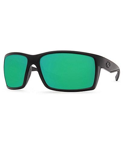 Costa Reefton Blackout Polarized Mirrored Glass Rectangle Sunglasses