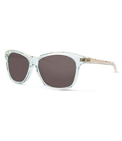Costa Sarasota Shiny Seafoam Polarized Butterfly Sunglasses