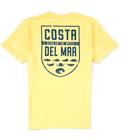 Costa Men's Shield Graphic Short-Sleeve Heathered T-Shirt