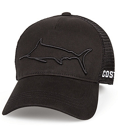 Costa Stealth Embroidered Marlin Baseball Hat