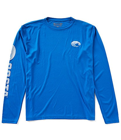 Costa Tech Core Long-Sleeve Performance Rashguard Crew Shirt