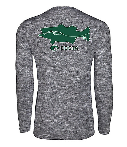 Costa Tech Lure Bass Long-Sleeve UPF Rashguard T-Shirt