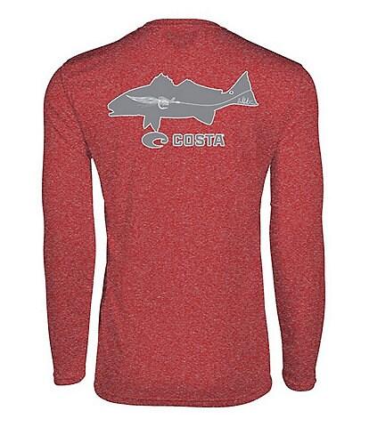 Costa Tech Lure Redfish Long-Sleeve UPF Rashguard T-Shirt