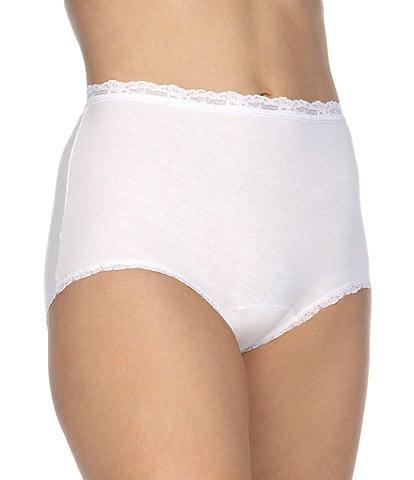 80d9ed42c0596 Cotillion Cotton Lace-Trim Brief