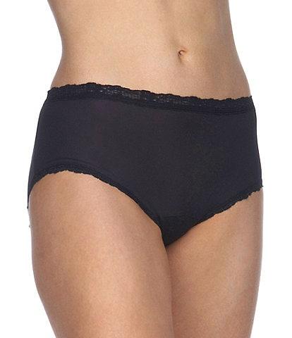 Cotillion Nylon Lace-Trim Hipster Panty