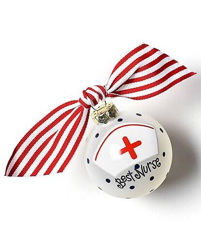 Coton Colors Best Nurse Glass Ornament
