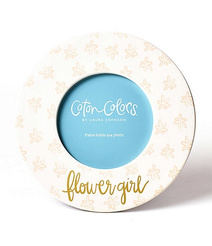 Coton Colors Blush Floral Flower Girl Round Frame