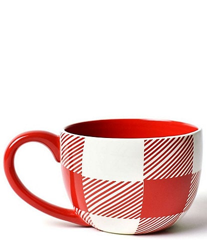 Coton Colors Buffalo Red Plaid Mug