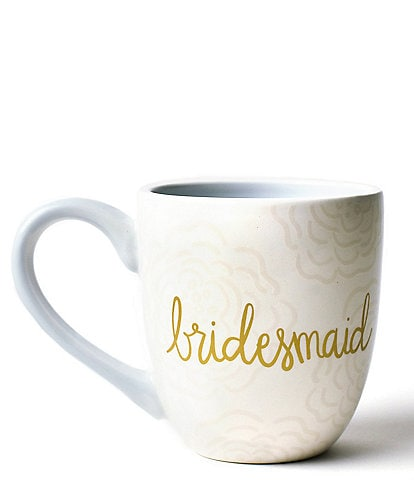 Coton Colors Ecru Floral Bridesmaid Mug