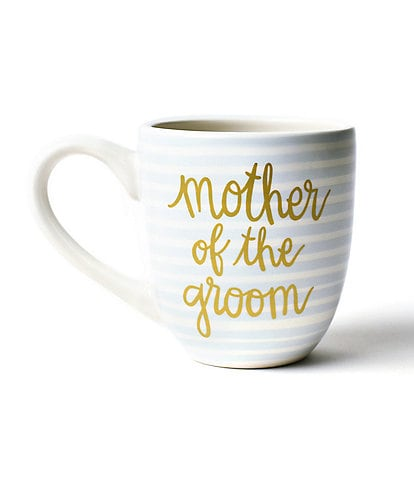 Coton Colors Ecru Stripe Mother of the Bride and Groom Mug