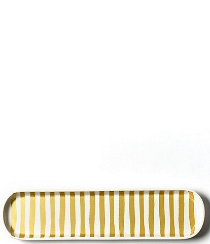 Coton Colors Gold Stripe Scoop Oval Tray