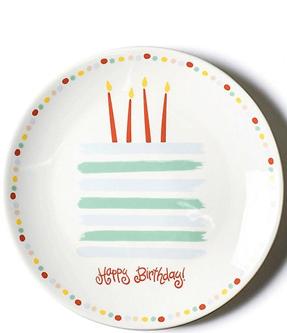 Coton Colors Happy Birthday Blue Cake Plate